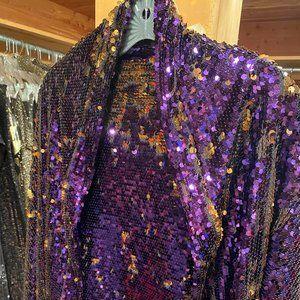 Purple Sequins Shawl
